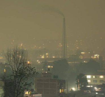 Verschmutzter Himmel